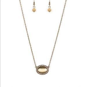 4/$22 Paparazzi Brass Anything Glows Necklace